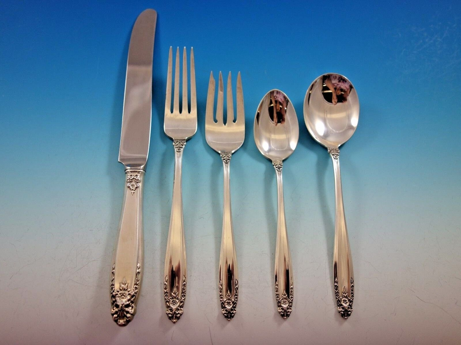 Prelude by International Sterling Silver Flatware Set For 8 Service 45 Pieces