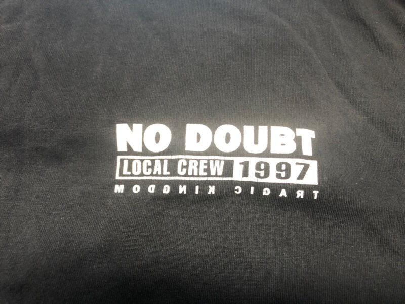 Vintage T Shirt - No Doubt Local Crew Kingdom Target Black 1997 Murina Size XL