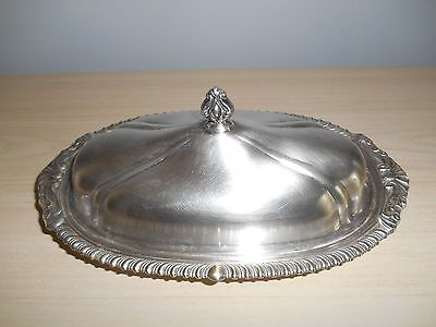 Vintage Sheridan Silver Plate Butter Dish