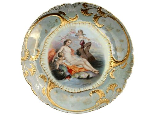AN ANTIQUE FRENCH PORCELAIN CABINET PLATE CA 1900