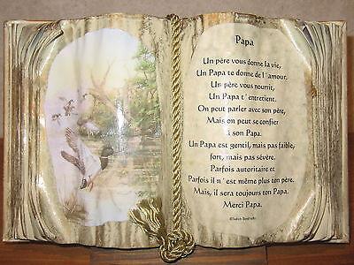 *NEW* Cadre Livre PAPA H.20cm L.30cm Judith Bond