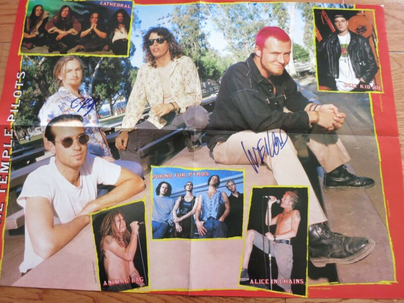 Stone Temple Pilots Signed Poster Coa + Proof! Scott Weiland Vintage Autos