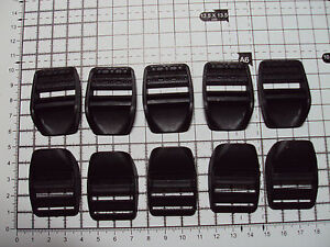 10 x Black Plastic Ladderlock Buckles for Webbing 25mm