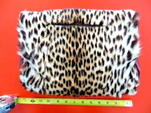 Leopard Cheetah Muff Handwarmer Lined with Zippered Pouch