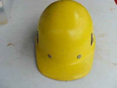 Vintage Superglas Fibre Metal Fiberglas Hard Hat Iron Steel Oil Worker Usa