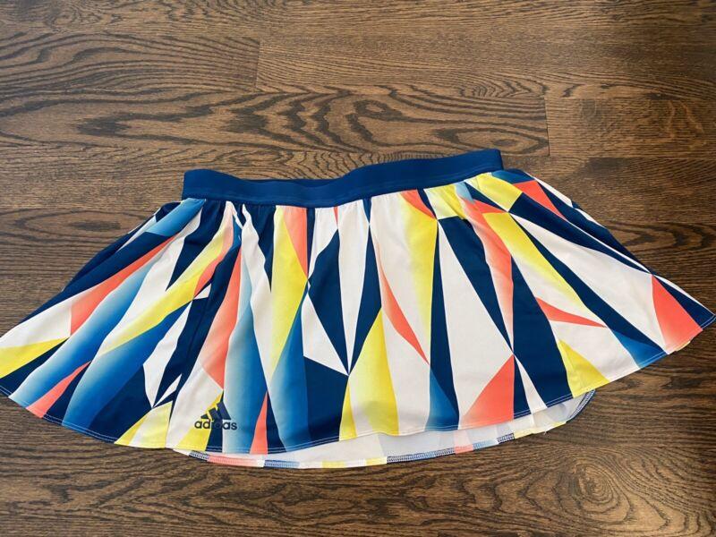 Womens Adidas Climalite Skort Size 10 Blue Yellow Pink White