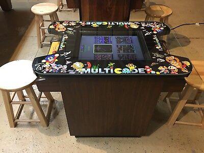 Ms. Pac Man Donkey Kong Burgertime Cocktail Table 60 in 1 Multicade Arcade - Ms Pac Man Cocktail Table