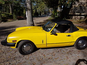 Triumph Spitfire convertible  1500 cc 4 speed 1978 all original