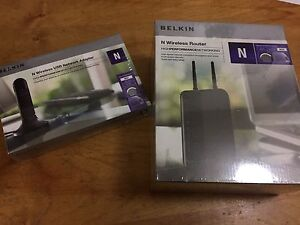 New belkin wireless router and USB network adapter