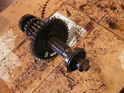 Farmall B Tractor Ih Top Upper Set Transmission Drive Gear Gears Shaft Beari