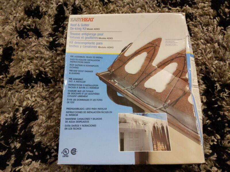 EASY HEAT ELECTRIC ROOF & GUTTER DE-ICING CABLE ADKS-600  * 120 FEET CABLE FT