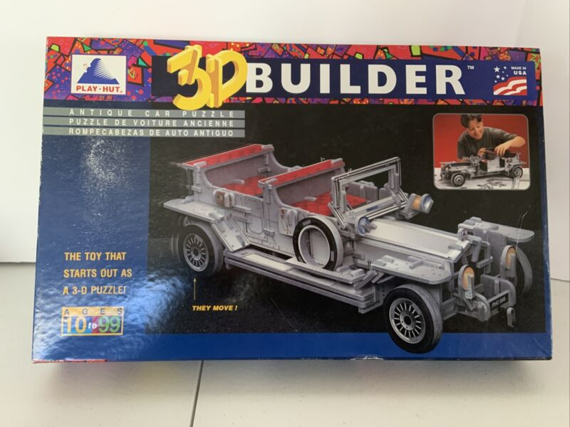 CAR 3D BUILDER PLAY HUT PUZZLE