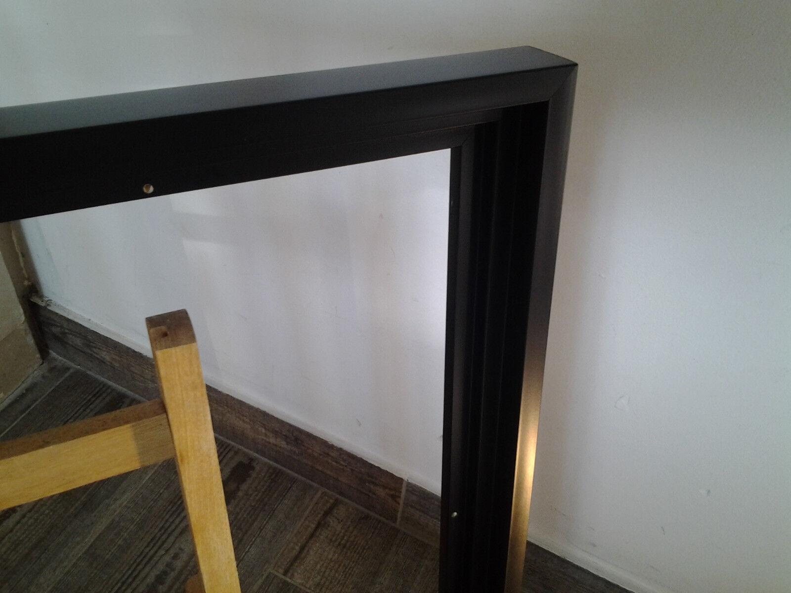 encadrement caisse am ricaine en bois finition satin e noire format figure eur 11 90. Black Bedroom Furniture Sets. Home Design Ideas