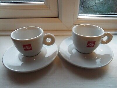NEW 2x Original illy espresso cups and saucers Made in Italy, NEW