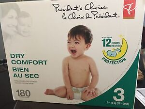 Presidents Choice Size 3 baby diapers