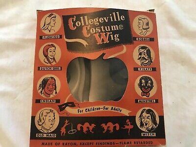 PIRATE, Collegeville Costume Wig Vintage Halloween Wig, Original Box, Unused