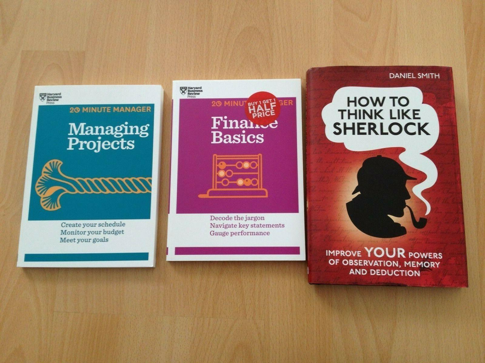3x englische Business-Bücher (2x Harvard Business Review)