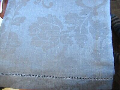 "NWT  15"" X 108"" DARBY 7015 Linen Sferra Filigree Table Runner Cadet Blue"
