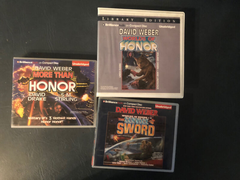 Audiobook CD David Weber Worlds of Honor Series 4 Books