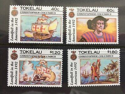 1990s TOKELAU - COLUMBUS SHIP STAMPS SET OF 4 - MARITIME HERITAGE - MNH - (CH68)