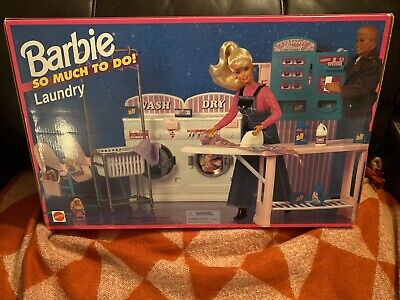EXTREMELY RARE NIB BARBIE SO MUCH TO DO LAUNDRY MAT
