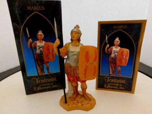 """Fontanini Italy """"Marcus""""  5 inches Figurine with Box & Story Card"""