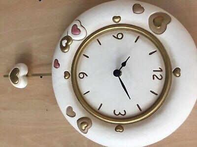 orologio pendolo parete thun cuori