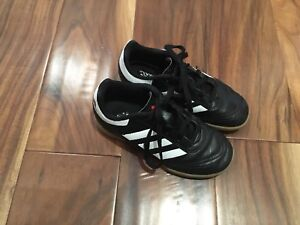Adidas indoor soccer shoes, kids size 12