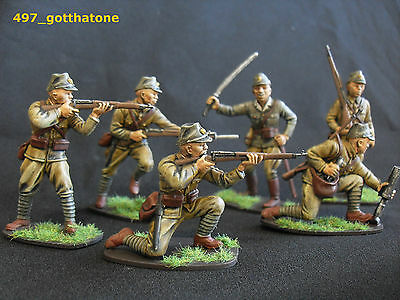 Airfix/red box full set x 14 1/32 professionally painted Japanese infantry ww2.