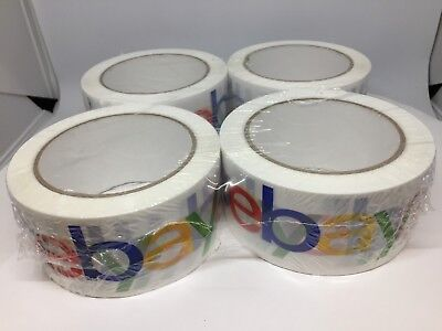 Ebay Branded Logo Packaging Tape 4 Rolls Shipping Packing Sealing