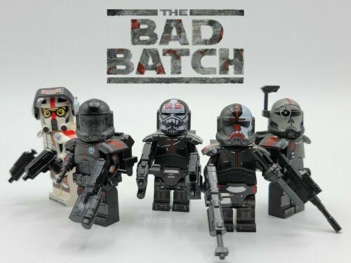 Custom Star Wars Minifigures The Bad Batch Armored Clone Troopers 5 Pcs Set