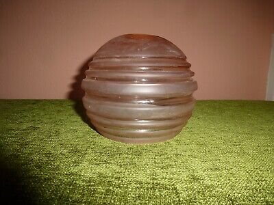 1 X FRENCH ART DECO PINK GLASS SHADE