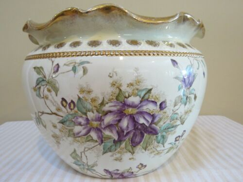 Antique China Bona Fama Melior Zona Aurea Planter or Jardiniere