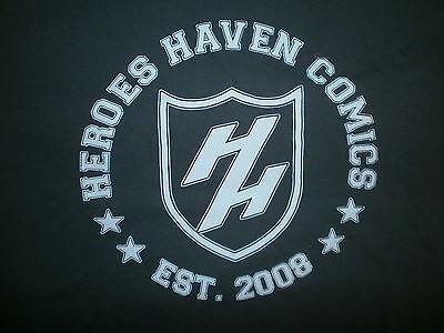 HEROES HAVEN COMICS T SHIRT Tampa Bay FLA Comic Book Store Gray MEDIUM