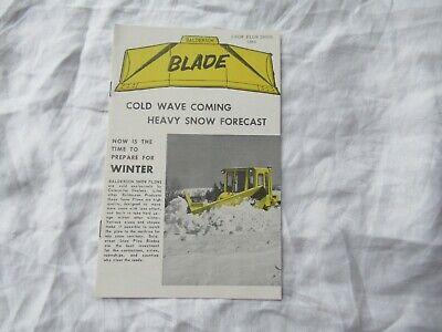 1964 Balderson Blade Snow Plows Brochure For Cat Caterpillar Tractors