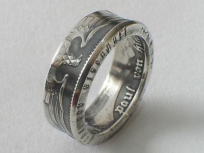Münzring 5 Reichsmark Adler 1936-39 Silber 900er Coin Ring Münze