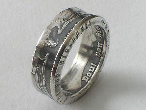 Münzring 5 Reichsmark Adler 1936-39 Silber 0.900 Coin Ring Münze