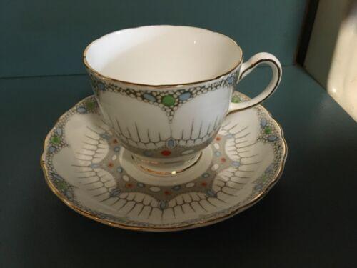 Tuscan plant dotsl bone China Tea Cup & Saucer England