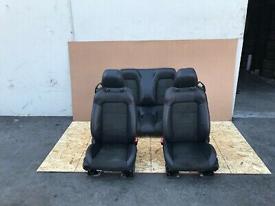 FORD MUSTANG GT CONVERTIBLE 2015-2019 OEM FRONT AND REAR SEATS (SUEDE/BLACK) 18K