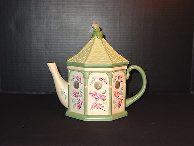 Lenox Birdhouse Teapot by Catherine McClung ~ SUMMER GREETINGS ~ Mint