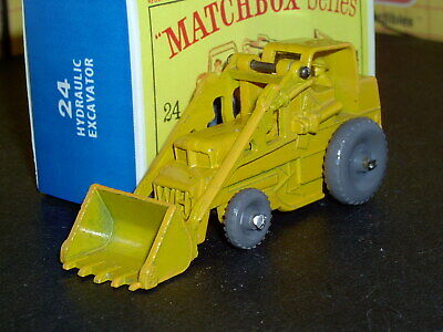 Matchbox Lesney Weatherill Excavator 24 b1 yel GPW D-R SC2 VNM & crafted box