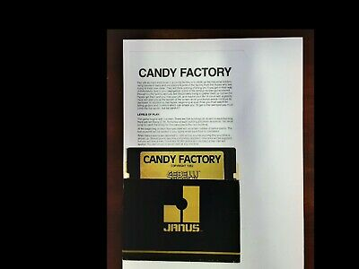 CANDY FACTORY+ instructions  ATARI 400800 Tested   Gebelli Software (1982) Rare
