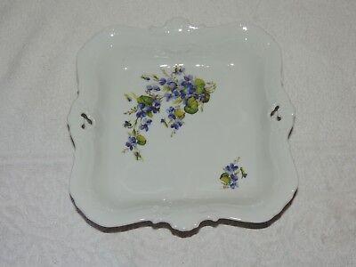 Seltmann Weiden eckige Schale , floral gemustert ,Qualitäts-Porzellan Mozart