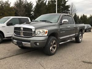 2007 Dodge Ram 1500 Laramie / LEATHER/SUNROOF/CHROME RIMS