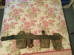 Army webbing belt with water bottle Coorparoo Brisbane South East Preview