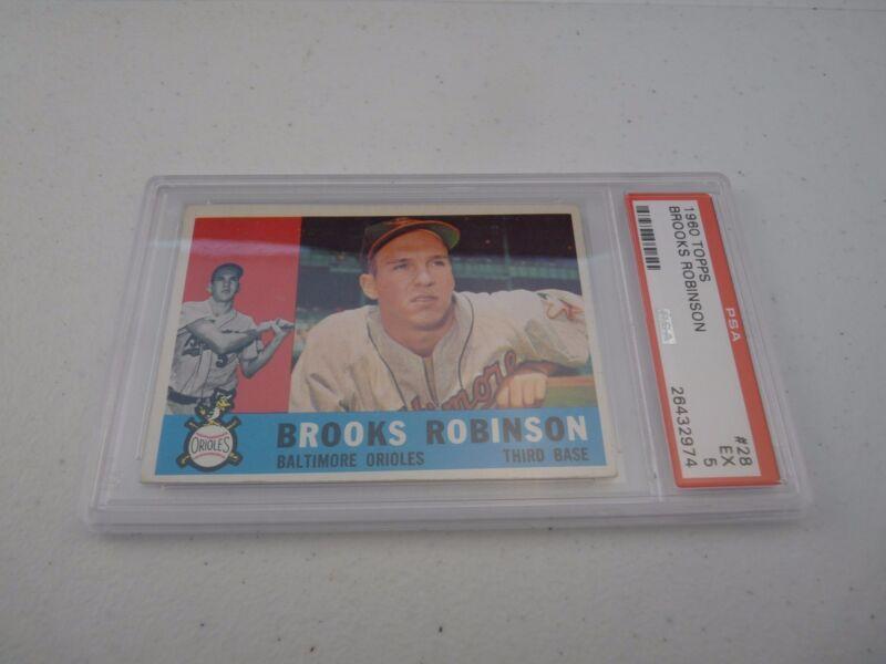 Brooks Robinson 1960 Topps #28 Baseball Card PSA Graded Slabbed EX 5
