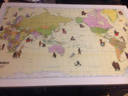 Vintage 1950s 60s world map desk table desks gumtree australia vintage 1950s 60s world map desk table desks gumtree australia marrickville area marrickville 1187643442 gumiabroncs Gallery
