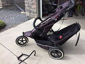 Phil and Ted double sports stroller