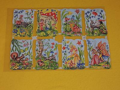 1x Poesiebilder Oblaten Elfen 124 nostalgie Glanzbilder Blumenelfen fairy feen G