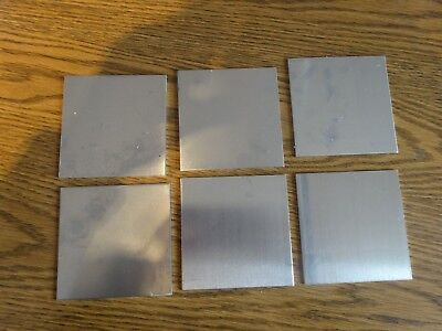 6 Pieces Of .080 Aluminum Square Sheets Approximately 4 X 4